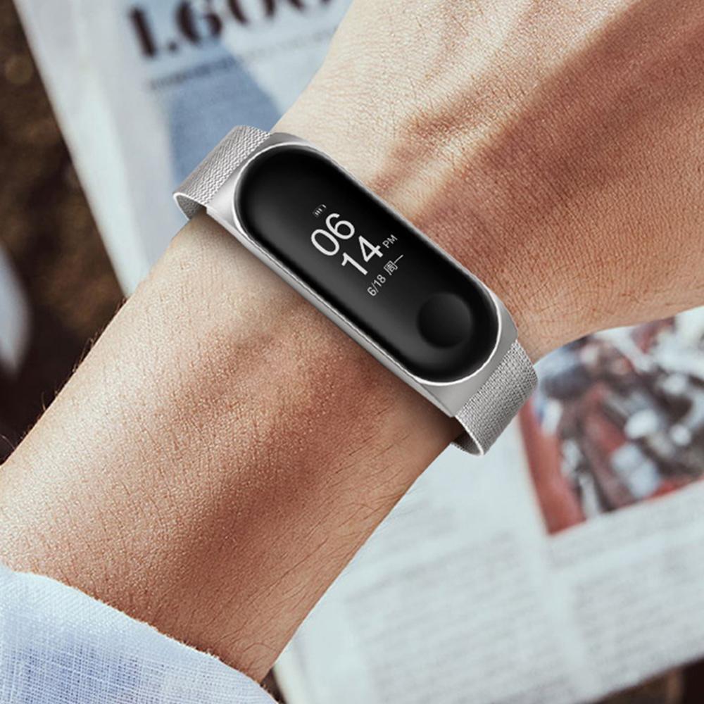 Eplacement部分miバンド4 3スマート腕時計アクセサリー金属ストラップリストバンドステンレス鋼バックル交換ストラップxiaomi_画像4