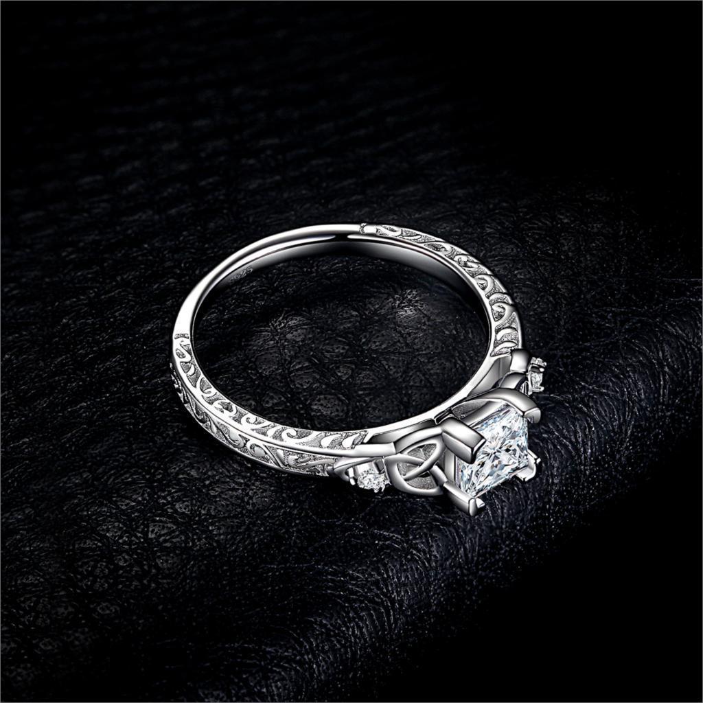 【★★新品★★】Jpalaceケルトノット王女cz婚約指輪 925スターリングシルバーリング _画像5