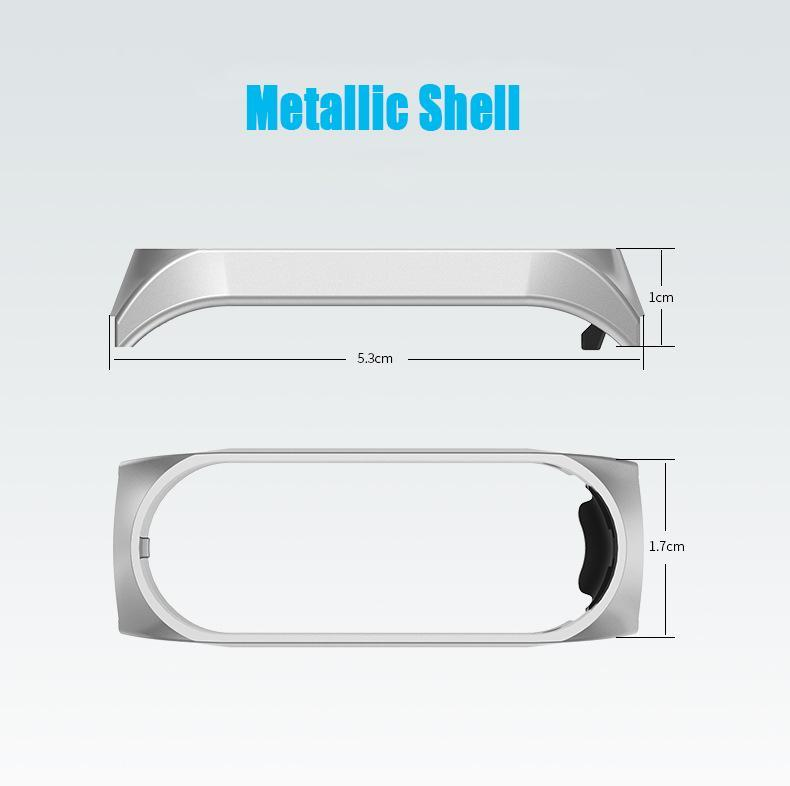 Eplacement部分miバンド4 3スマート腕時計アクセサリー金属ストラップリストバンドステンレス鋼バックル交換ストラップxiaomi_画像3