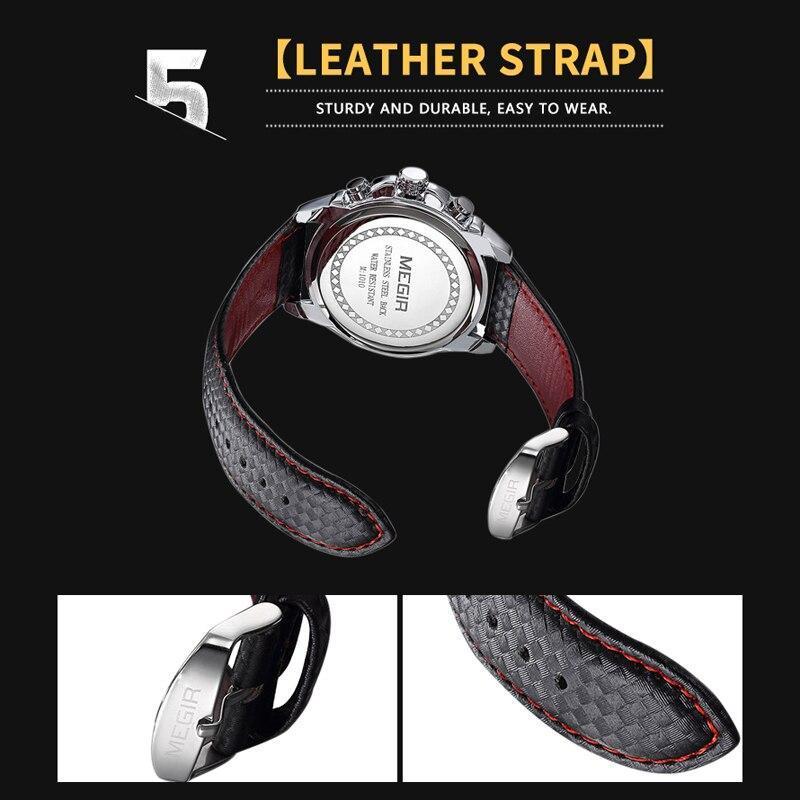 Megirメンズ腕時計トップブランドの高級クォーツ時計男性ファッション発光軍防水メンズ腕時計レロジオmasculino 2019_画像2