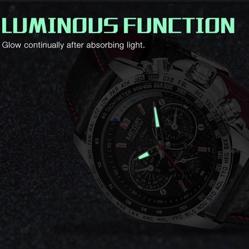 Megirメンズ腕時計トップブランドの高級クォーツ時計男性ファッション発光軍防水メンズ腕時計レロジオmasculino 2019_画像3