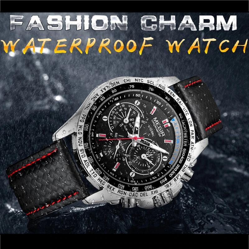 Megirメンズ腕時計トップブランドの高級クォーツ時計男性ファッション発光軍防水メンズ腕時計レロジオmasculino 2019_画像6