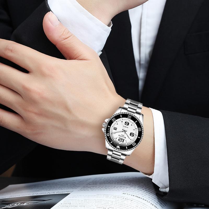 2019 トップブランド WLISTH 高級メンズ腕時計 30 メートル防水日付時計男性スポーツ腕時計男性用クォーツ腕時計レロジオ Masculino_画像6