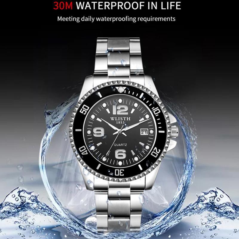 2019 トップブランド WLISTH 高級メンズ腕時計 30 メートル防水日付時計男性スポーツ腕時計男性用クォーツ腕時計レロジオ Masculino_画像3