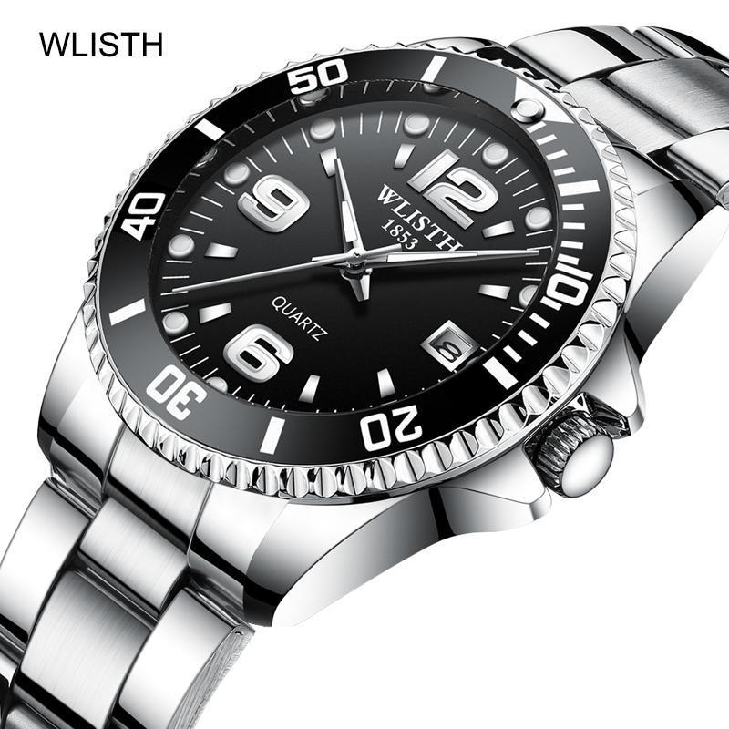 2019 トップブランド WLISTH 高級メンズ腕時計 30 メートル防水日付時計男性スポーツ腕時計男性用クォーツ腕時計レロジオ Masculino_画像1