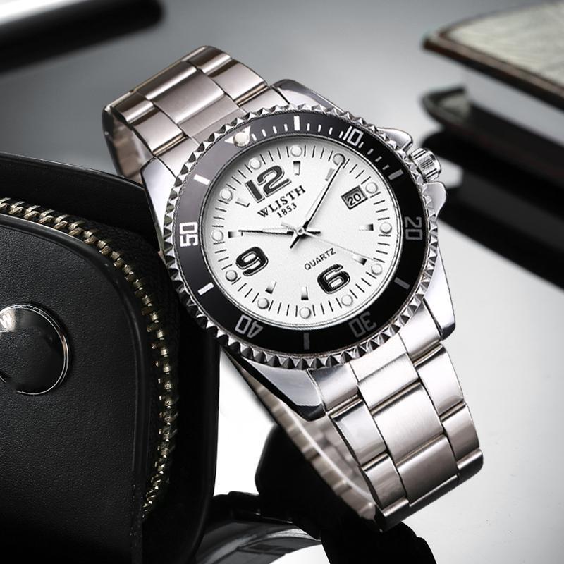 2019 トップブランド WLISTH 高級メンズ腕時計 30 メートル防水日付時計男性スポーツ腕時計男性用クォーツ腕時計レロジオ Masculino_画像5