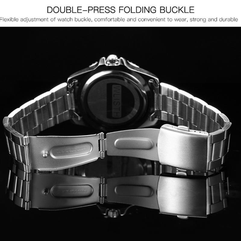 2019 トップブランド WLISTH 高級メンズ腕時計 30 メートル防水日付時計男性スポーツ腕時計男性用クォーツ腕時計レロジオ Masculino_画像4