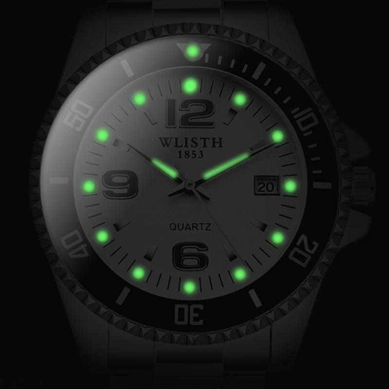 2019 トップブランド WLISTH 高級メンズ腕時計 30 メートル防水日付時計男性スポーツ腕時計男性用クォーツ腕時計レロジオ Masculino_画像2