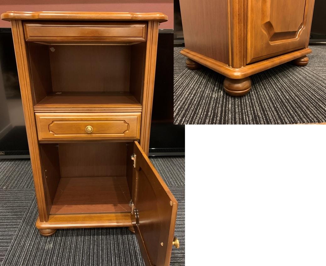 レトロ 木製 電話台 収納棚 飾り棚 引き出し 整理棚 小物入れ インテリア アンティーク 家具 _画像3