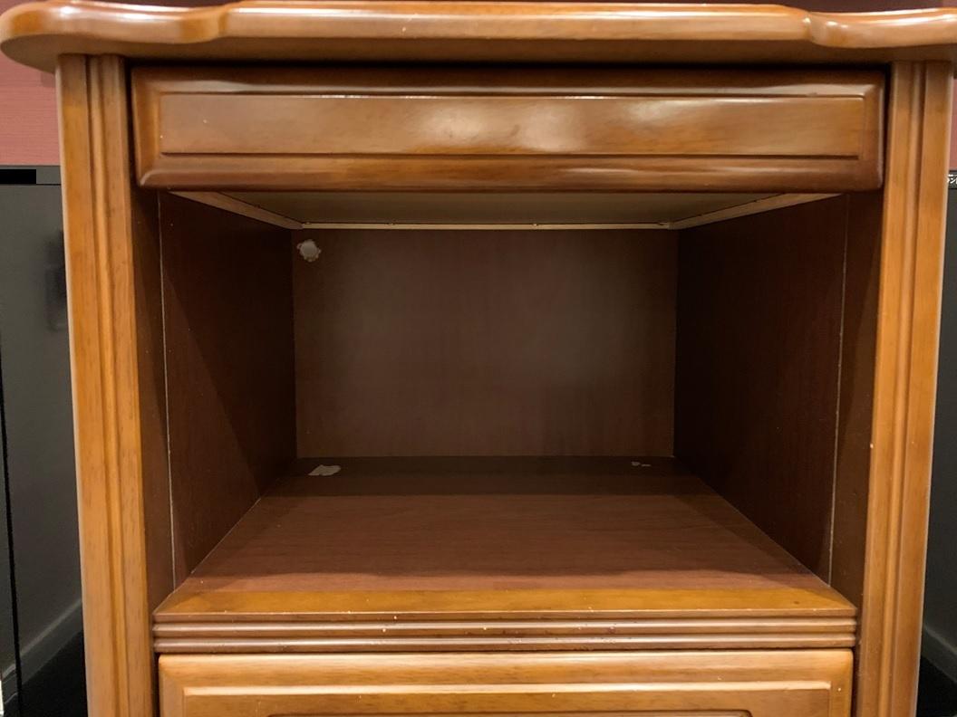 レトロ 木製 電話台 収納棚 飾り棚 引き出し 整理棚 小物入れ インテリア アンティーク 家具 _画像2