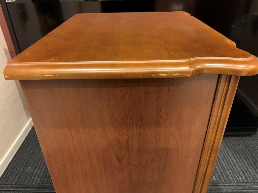 レトロ 木製 電話台 収納棚 飾り棚 引き出し 整理棚 小物入れ インテリア アンティーク 家具 _画像10