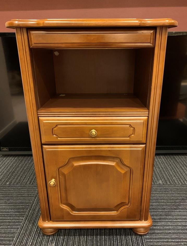レトロ 木製 電話台 収納棚 飾り棚 引き出し 整理棚 小物入れ インテリア アンティーク 家具 _画像1