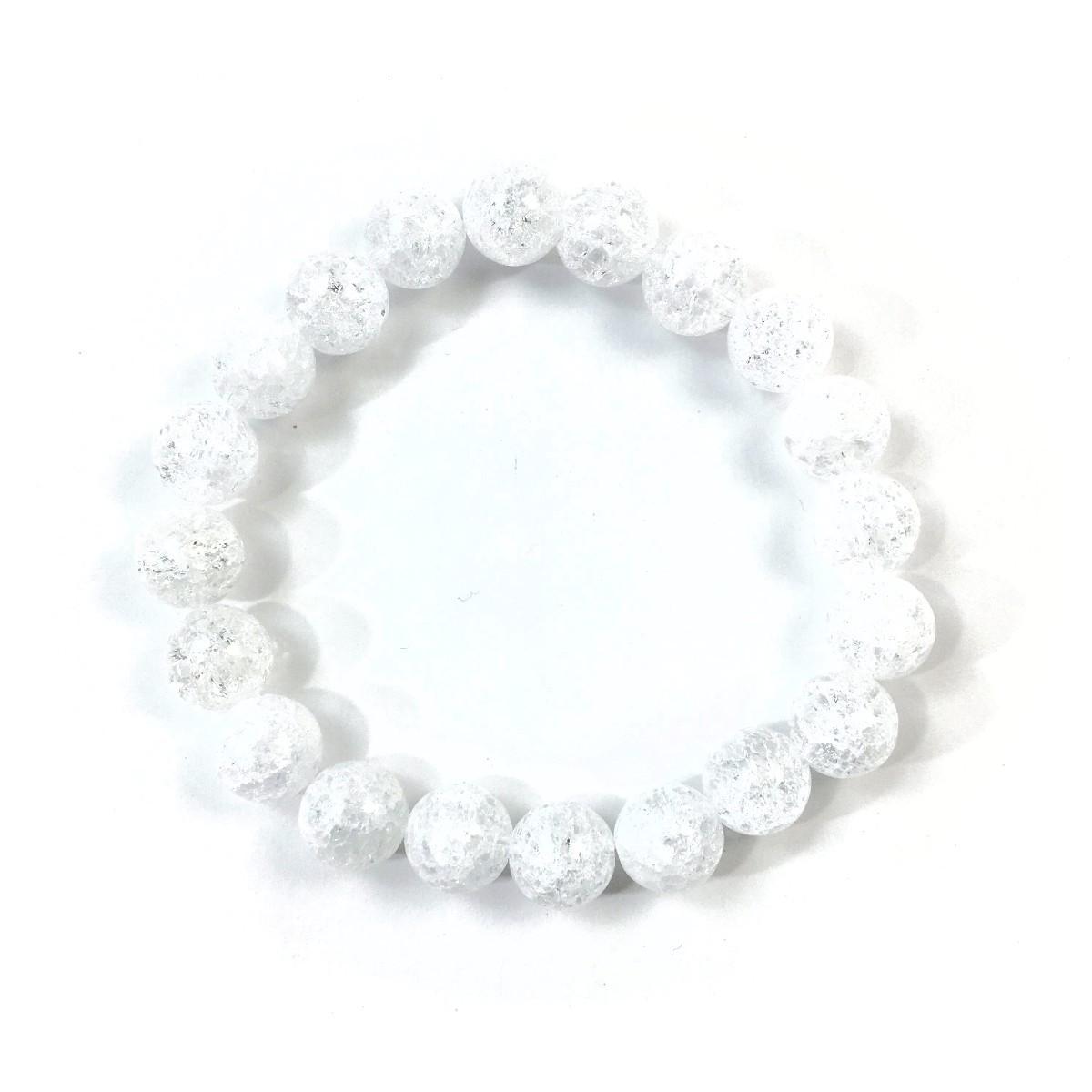 クラック水晶 パワーストーン ブレスレット 10mm 天然石ブレス シンプル 開運 浄化 数珠ブレス メンズ・レディース  男性_画像4