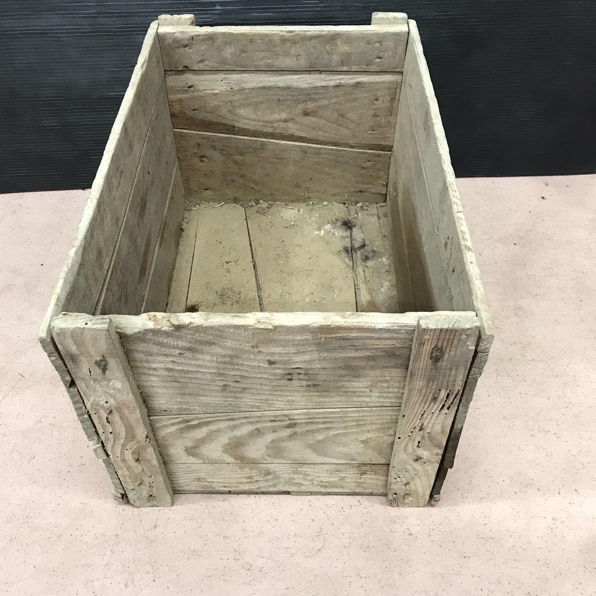 昭和レトロ 木箱 アンティーク ビンテージ ディスプレイ 古民家 ②_画像2