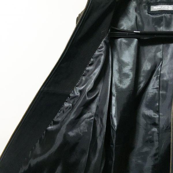 #UNITED ARROWS ユナイテッドアローズ 本革ラムレザージップアップブルゾン ブラックカラー sizeL(M程度)