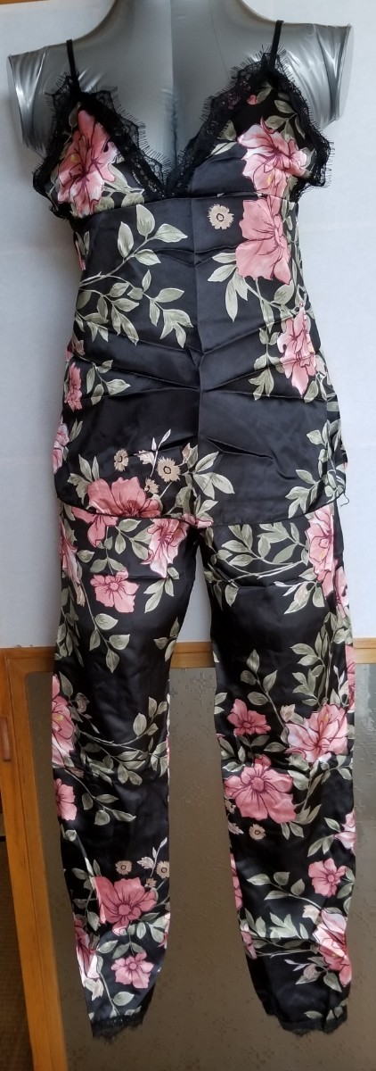 ルームウェア セクシー 部屋着 パジャマ 花柄 ボタニカル柄 パンツ ナイト