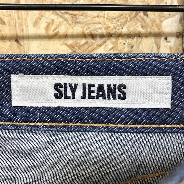 【日本製】 SLY JEANS スライ 26 レディース デニム スキニーパンツ ジーンズ テーパード 股上深め ロング 綿×ポリウレタン ブルー 青_画像2