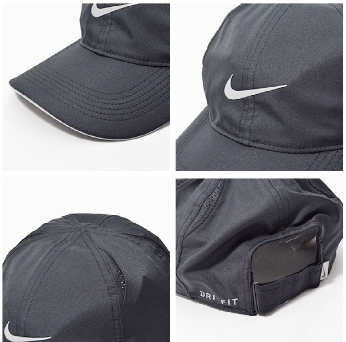 NIKE ナイキ ランニング フェザーライトキャップ ラン 帽子 ブラック 黒