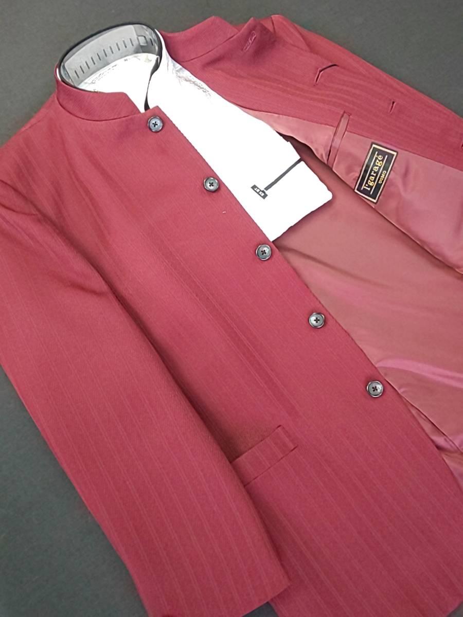 新品 SALE!! 特別価格!! 送料無料 l'garage マオカラースーツ ツータック Lサイズ ゆったり パーティー 結婚式 ステージ衣装 54516-3 _画像2