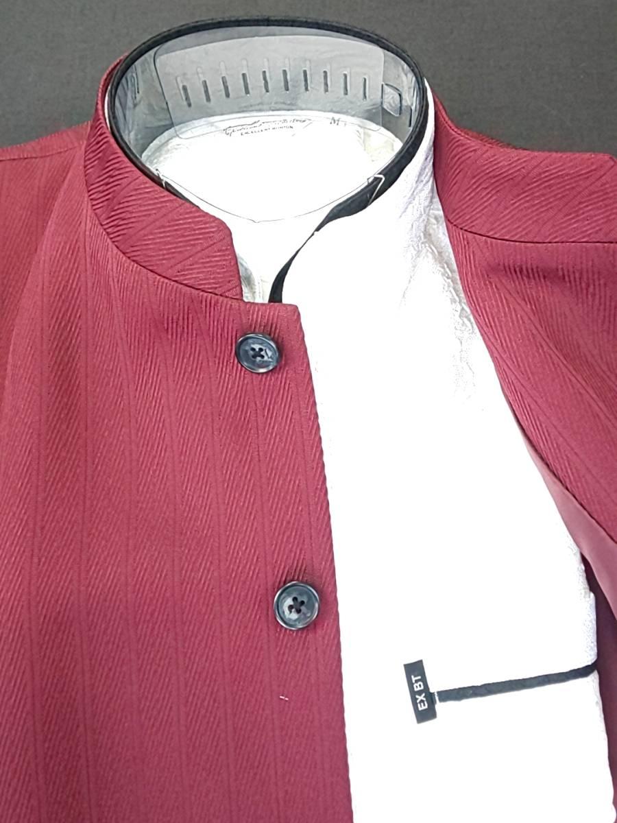 新品 SALE!! 特別価格!! 送料無料 l'garage マオカラースーツ ツータック Lサイズ ゆったり パーティー 結婚式 ステージ衣装 54516-3 _画像3
