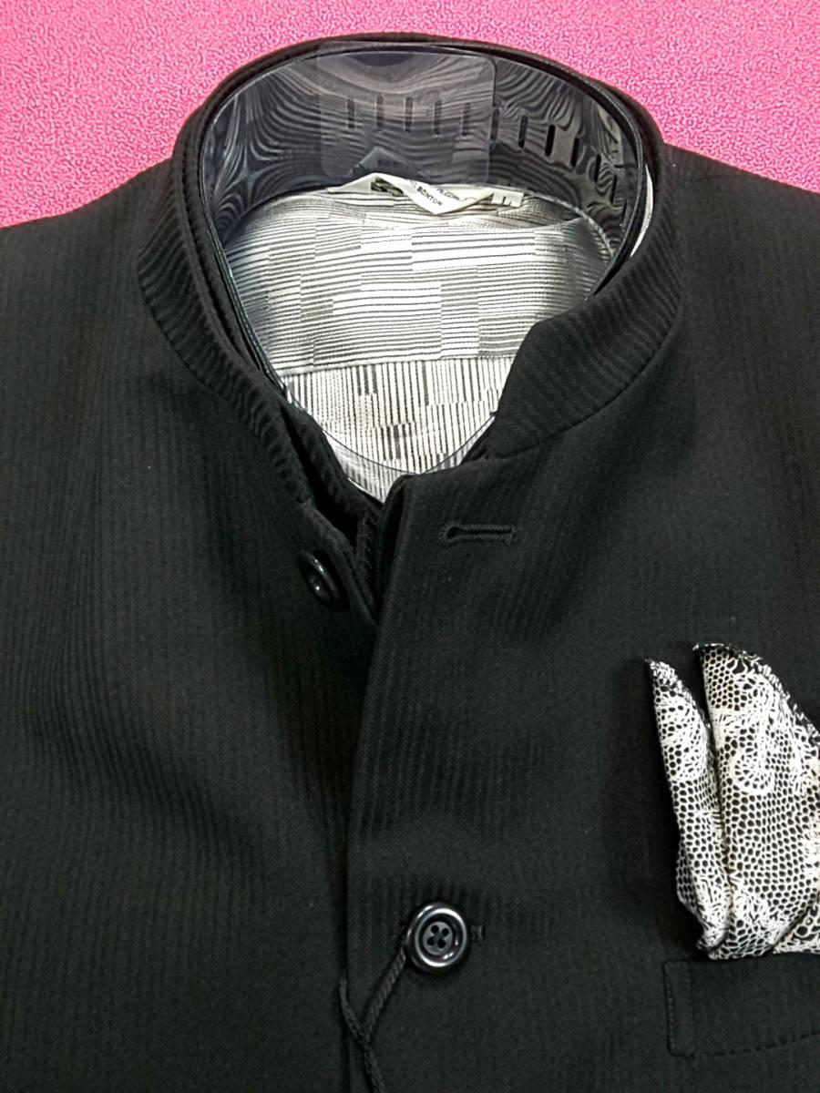 新品 SALE!! 送料無料 l'garage スリーピース マオカラースーツ スリータック LLサイズ ゆったり パーティー 結婚式 ステージ衣装 4014-3 _画像4