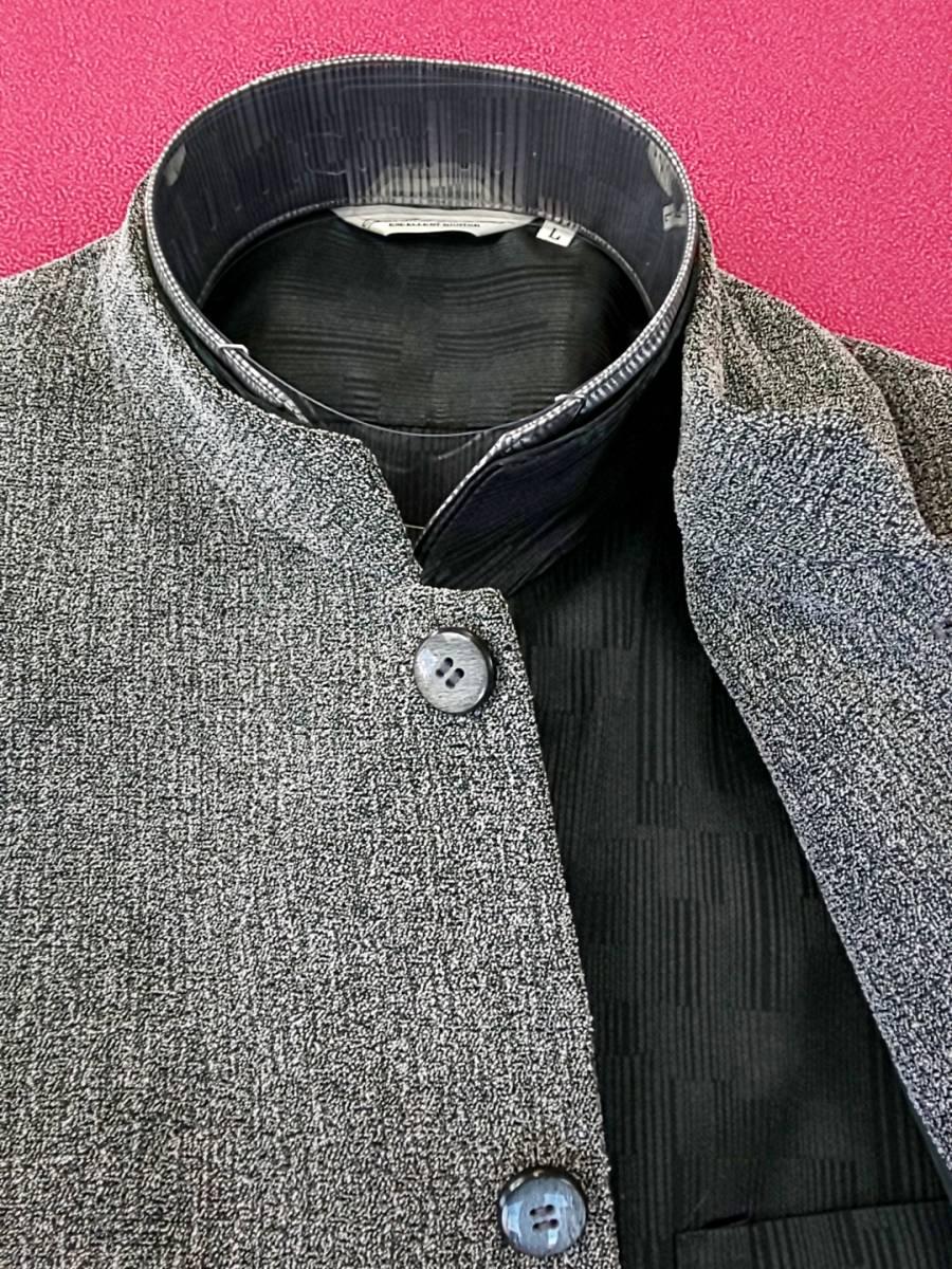 新品 SALE!! 特別価格 送料無料 Lorant マオカラースーツ スリータック BEMサイズ ゆったり パーティー 結婚式 ステージ衣装 日本製 1775 _画像3