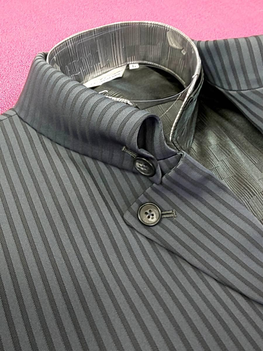 新品 SALE!! 特別価格!! 送料無料 l'garage マオカラースーツ スリータック LLサイズ ゆったり パーティー 結婚式 ステージ衣装 54110-1 _画像3