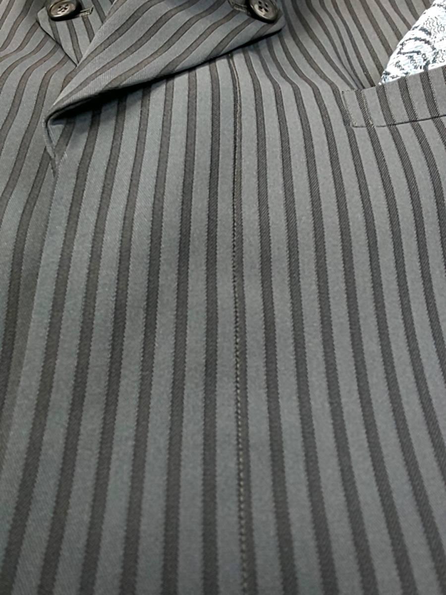 新品 SALE!! 特別価格!! 送料無料 l'garage マオカラースーツ スリータック LLサイズ ゆったり パーティー 結婚式 ステージ衣装 54110-1 _画像6