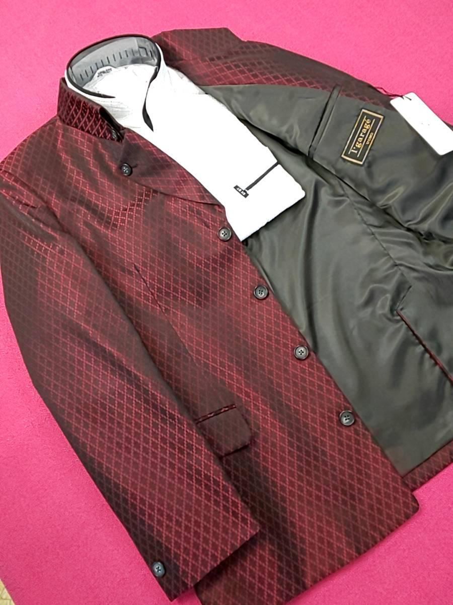 新品 SALE!! 特別価格!! 送料無料 l'garage マオカラースーツ ツータック Mサイズ ゆったり パーティー 結婚式 ステージ衣装 74504-2 _画像2