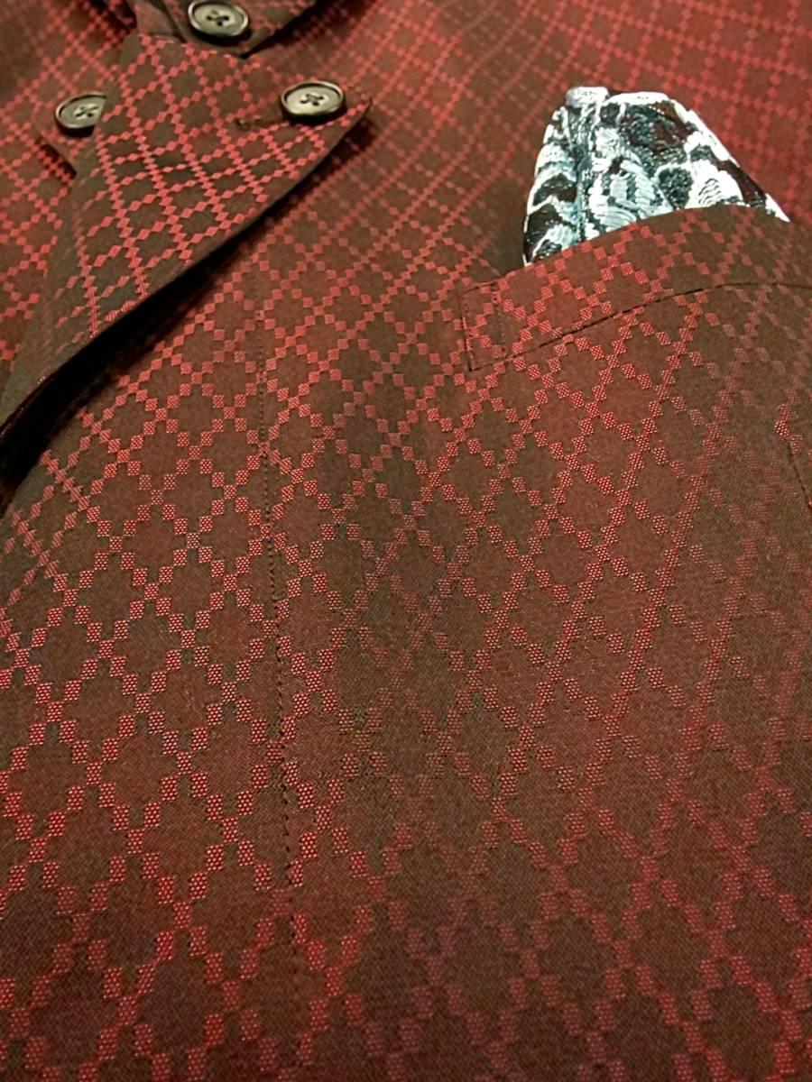 新品 SALE!! 特別価格!! 送料無料 l'garage マオカラースーツ ツータック Mサイズ ゆったり パーティー 結婚式 ステージ衣装 74504-2 _画像5