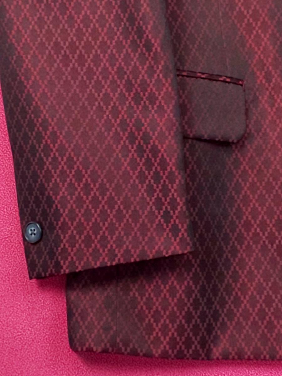 新品 SALE!! 特別価格!! 送料無料 l'garage マオカラースーツ ツータック Mサイズ ゆったり パーティー 結婚式 ステージ衣装 74504-2 _画像6