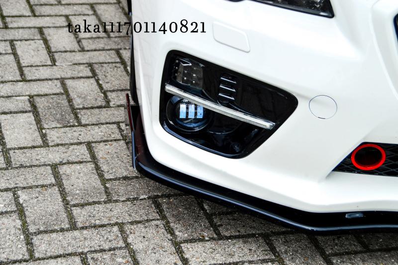 スバル WRX S4/ STI VA系 フロント リップ スポイラー / アンダー スプリッター フラップ エプロン ディフューザー カナード スカート_画像5