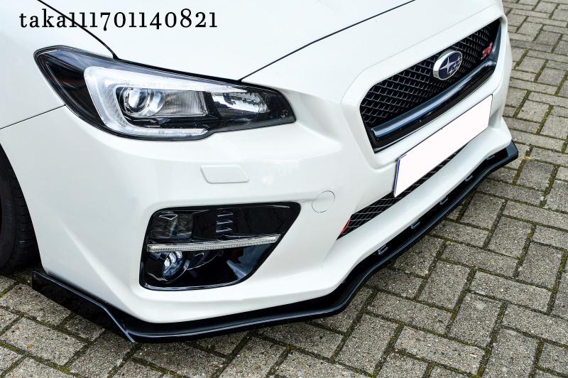 スバル WRX S4/ STI VA系 フロント リップ スポイラー / アンダー スプリッター フラップ エプロン ディフューザー カナード スカート_画像2