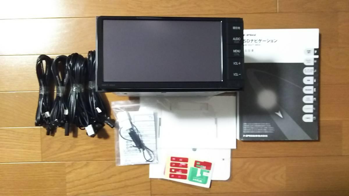 トヨタ純正 美品 アクア SDナビ NSZT-W64 動作確認済み 新品フィルムアンテナ テレビキット 地デジ Bluetooth DVD 即使用可能_画像2