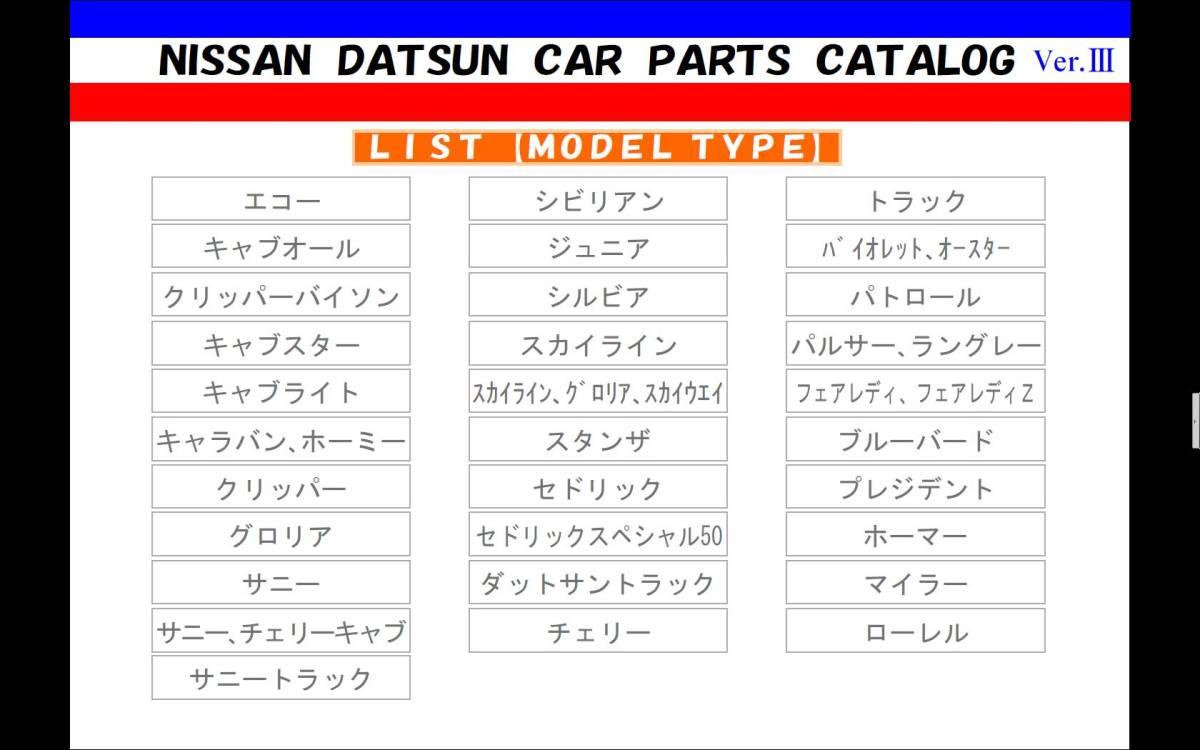 日産旧車パーツカタログVer.Ⅲ フェアレディZ 240ZG Z432 S30Z HS30 PS30 L28 L24 L20 S20エンジン 旧車部品検索 NISSAN ダットサン DATSUN_画像8