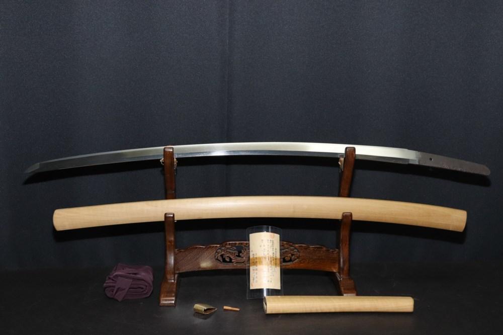 (AL-57)刀◆銘文「吉長(小山関)美濃千手院」◆古刀◆室町時代◆日本美術刀剣保存協会鑑定書付_画像6