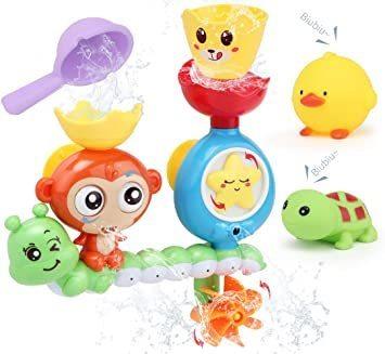 【新品】 Sotodik お風呂おもちゃ 水遊びおもちゃ シャワーおもちゃ 水おもちゃ 噴水おもちゃ 吸盤安定 子供 風呂 水車_画像1