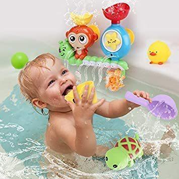 【新品】 Sotodik お風呂おもちゃ 水遊びおもちゃ シャワーおもちゃ 水おもちゃ 噴水おもちゃ 吸盤安定 子供 風呂 水車_画像2
