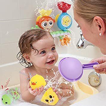 【新品】 Sotodik お風呂おもちゃ 水遊びおもちゃ シャワーおもちゃ 水おもちゃ 噴水おもちゃ 吸盤安定 子供 風呂 水車_画像3