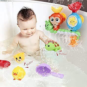 【新品】 Sotodik お風呂おもちゃ 水遊びおもちゃ シャワーおもちゃ 水おもちゃ 噴水おもちゃ 吸盤安定 子供 風呂 水車_画像4