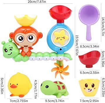 【新品】 Sotodik お風呂おもちゃ 水遊びおもちゃ シャワーおもちゃ 水おもちゃ 噴水おもちゃ 吸盤安定 子供 風呂 水車_画像7