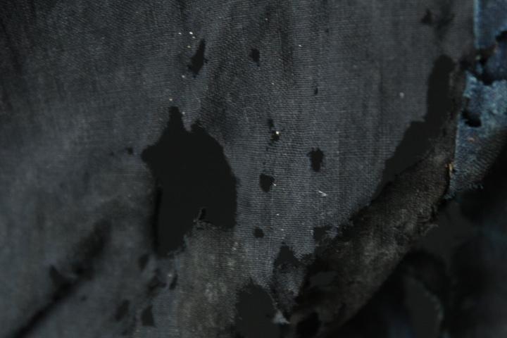 TB526藍染 木綿製 襤褸 古布◇継ぎ接ぎ/カバー/ボロ/裁縫/和裁/リメイク/素材/生地/布地/被服/風呂敷/あい/コットン/古道具タグボート_画像10