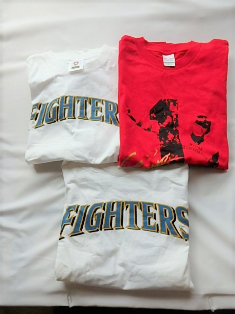 日ハム Tシャツ 3枚セット Mサイズ★DARVISH 11・新庄・INABA 41★日本ハムファイターズ オフィシャルグッズあり MIZUNO製品あり