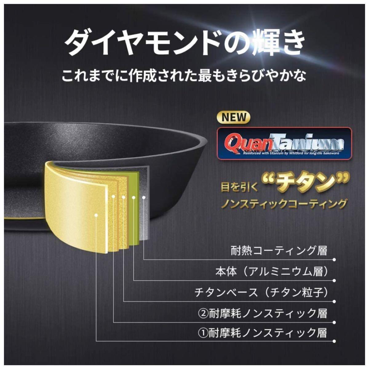 フライパン IH ガス対応 28cm スタイリッシュな炒め鍋 5層コーティング