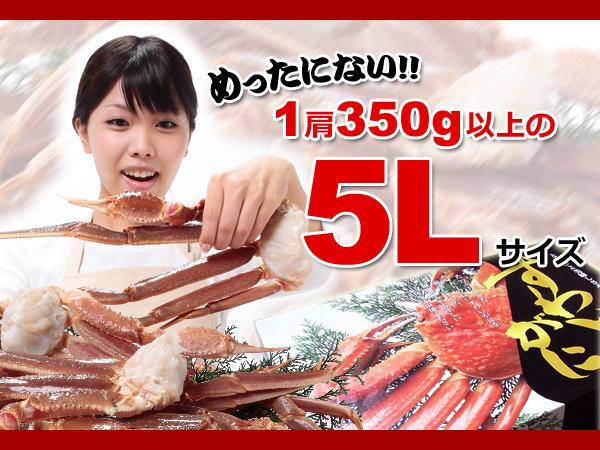 30個極上品 生ズワイガニ 2.5kg 特大 5L 惚れ惚れ蟹 さんきん1円