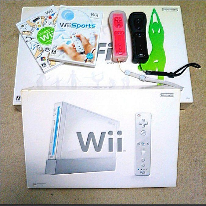 wii本体+wii fit+ソフト2枚