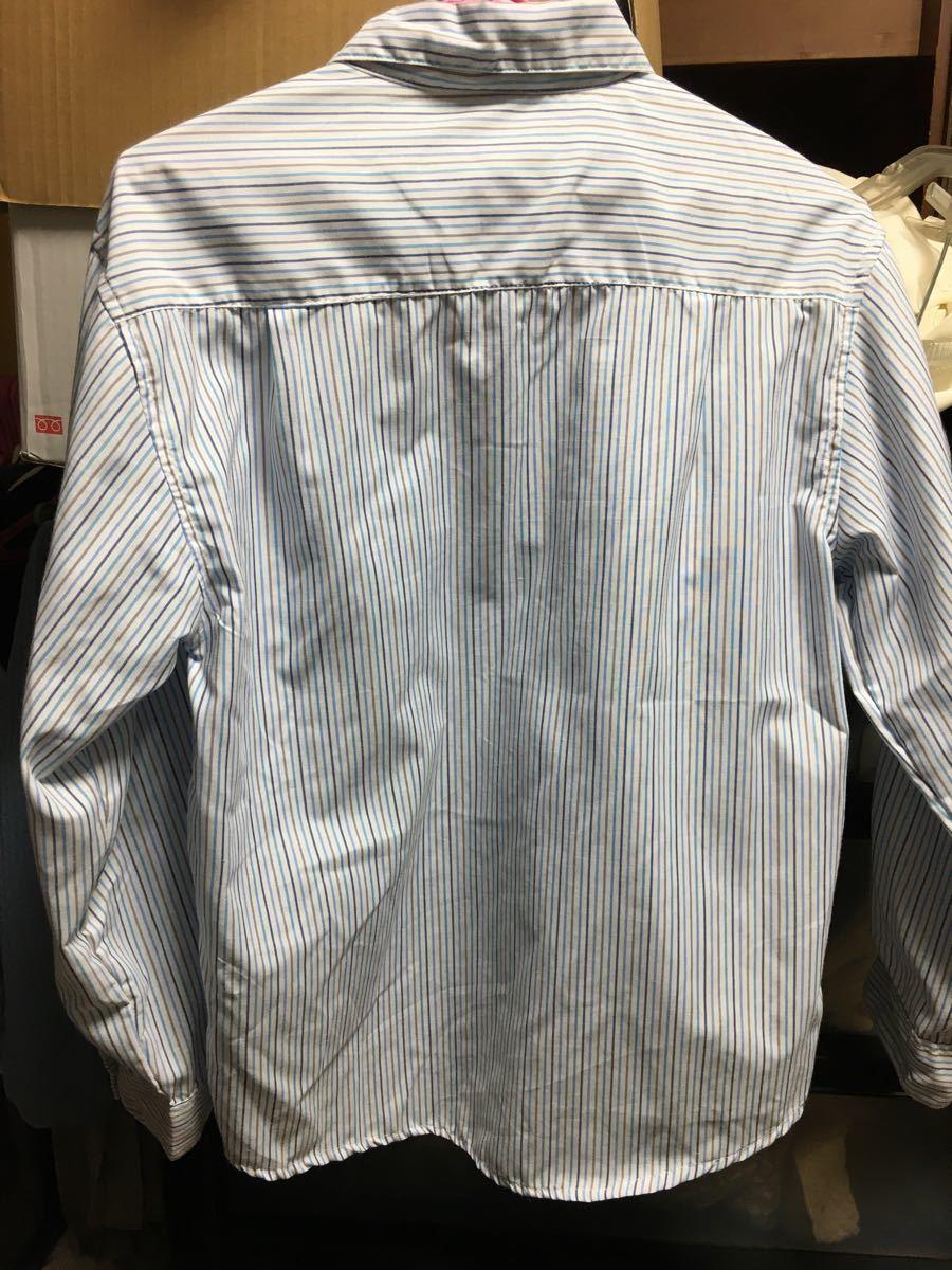 長袖シャツ ストライプシャツ