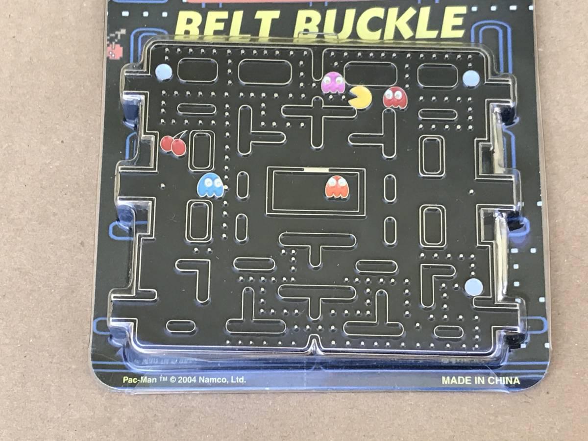 海外正規品 新品未開封 ナムコ NAMCO パックマン PAC-MAN ベルト バックル レトロゲーム ゲーセン 80年代 80's フルーツ パワーエサ 迷路_画像2