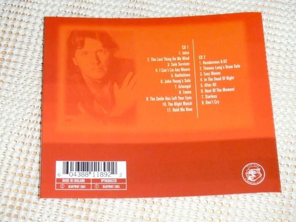 廃盤 2CD John Wetton ジョン ウェットン Live In Osaka / Mogul Thrash ASIA King Crimson UK Uriah Heep 等々で活躍した名手 大阪ライヴ