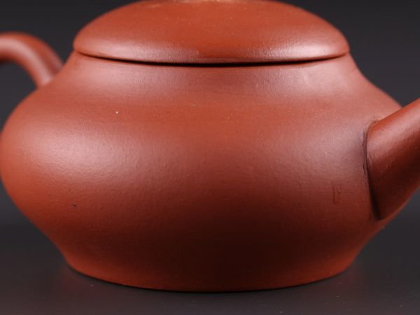 中国古玩 唐物 煎茶道具 朱泥 紫泥 中国宜興 款 紫砂壷 茶壷 急須 時代物 極上品 初だし品 a6281_画像7